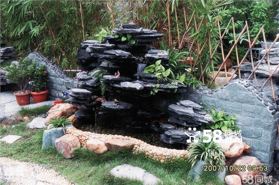 家庭园林水池假山制作,价格1000元起