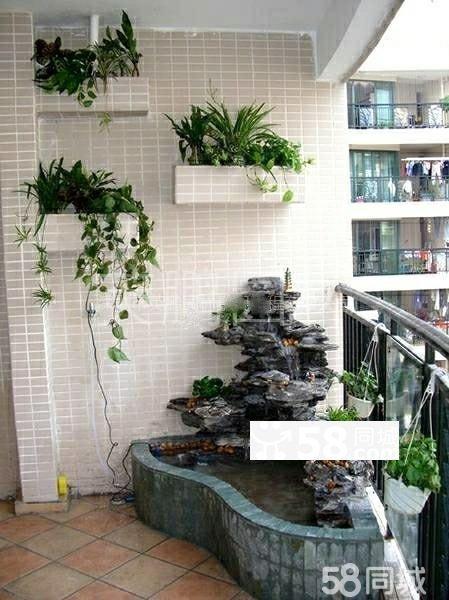 池造型,露台花园假山水景图片,入户花园假山效果图,花园假山